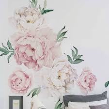 peony flowers wall decal flower wall