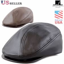 details about made in usa genuine leather gatsby ivy cap