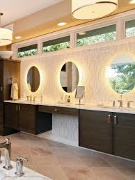 Oval Bathroom Mirrors With Square Tile Floor Patterns For Modern