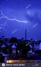 Brighton Night Light Parts Thunderstorm Uk Lightning Stock Photos Thunderstorm Uk