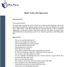 Bank Teller Job Interview Questions Teller Job Interview Yupar Magdalene Project Org