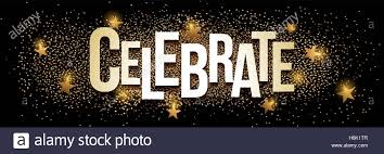 Celebrate Banner Celebrate Banner With Gold Glitter Vector Illustration