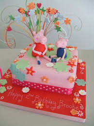 2nd Birthday Peppa Pig Cake