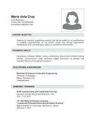 Career Objectives For Resume For Engineer Resume Examples