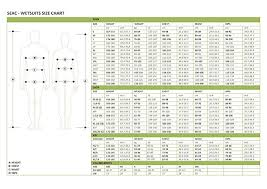 Seac Sub Size Chart Amazon Com Seac Womens Komoda 5 00 Mm Wetsuit Clothing