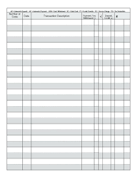 Credit Card Payment Record Template Petty Cash Log Usage