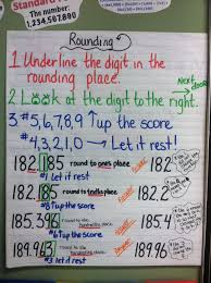 Rounding Anchor Chart 4th Grade Rounding Place Value Anchor Chart Nearest Tenths And