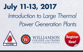 carl vairo williamson college of the trades williamson is offering a 3 day course entitled introduction to large thermal power generation plants