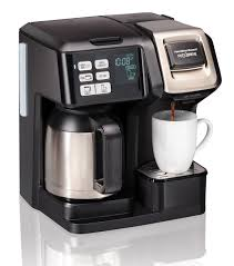 get ations hamilton beach 49966 coffee maker with thermal carafe single serve full coffee