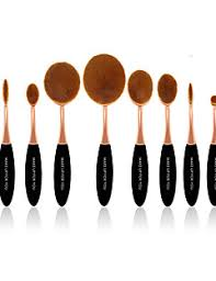 10 pcs master rose gold makeup brushes set synthetic hair professional plastic face eye