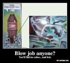 Blowjob ice cube coke cola