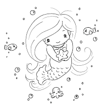 Cute Mermaid Coloring Pages Cute Mermaid Coloring Pages Anime Draw