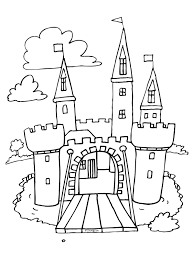 Kleurplaat Kasteel Kleurplatennl Color Pages Unicorn Sketch