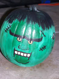 Scary Pumpkin Painting Decorating Ideas Cool Picture Of Kid Scary Frankenstein Jack O