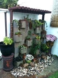 Concrete Block Planters Cinder Block Arbor Good Idea To Hide An Old Shed  Backyard Architectures Concrete