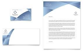 Letterhead Designs Templates Nursing School Hospital Business Card And Letterhead Design Template