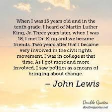 John Lewis Politics Quotes Double Quotes Amazing John Lewis Quotes