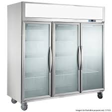 f e d sucg1500 triple glass door fridge