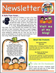 october newsletter ideas free newsletter october ideas printables by karens kids school room
