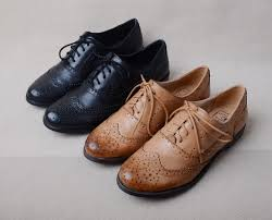 brand flats oxfords women s brogues shoes genuine leather flat cut out british classical style