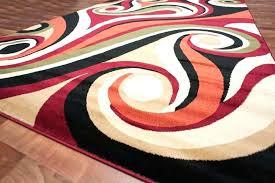 beige area rug 9x12 wonderful with modern swirl orange red black green