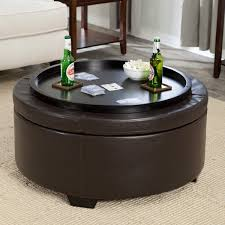 Round Coffee Table Round Storage Ottoman Coffee Table Zab Living