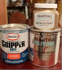 diy metallic furniture. tutorial on martha stewart metallic paint for furniture diy