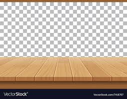 table top background. Wood Table Top On Isolated Background Vector Image K