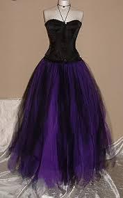 tutu <b>skirt</b> tulle <b>long</b> BESPOKE <b>black</b> purple <b>wedding petticoat</b> gothic ...