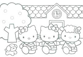 Hello Kitty Coloring Pages To Print Free Printable Hello Kitty