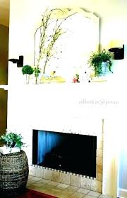 fireplace hearth decorating ideas for spring modern mantel decor mantels walls