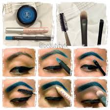 electric blue brows from anastasia follow insram beautybytk