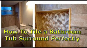 bathroom shower and tub. How To Tile Bathroom Shower Tub Surround, Niche Demo Finish And L