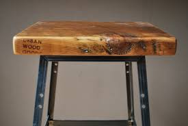 Industrial Counter Height Dining Table 2 Reclaimed Wood And Steel Industrial Shop Stools Made In Chicago