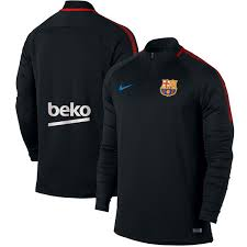 nike 1 4 zip pullover. barcelona nike 2017/18 squad drill performance quarter-zip pullover - black 1 4 zip \