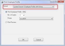 employee profile format employee profile with history hrpro help center