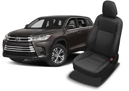 toyota highlander seat covers leather