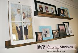 easy diy rustic shelves
