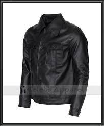 elvis presley rockstar mens celebrity fashion vintage black biker leather jacket
