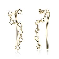 amazon 925 sterling silver star ear cuff wrap earrings for women s crawler climber studs hypoallergenic gold star jewelry