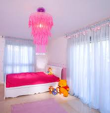 glamorous king size sleigh bed in kids contemporary with princess white granite next to pink walls alongside fish wallpaper and chandelier ideas