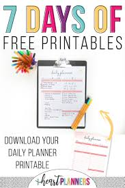 free daily planner printables free printable daily planner i heart planners