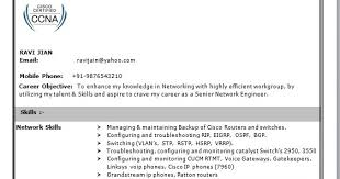 Resume For Ccna Professional Ccna Fresher Resume Model Over 10000