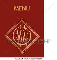 Restaurant Menu Design With Red Background 2 Clipart