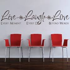 Love Wall Quotes Custom Live Laugh Love Wall Quote Saying