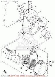 Yamaha ys828tm snow blower 1988 air shroud starter schematic air shroud starter schematic 1988 yamaha starter schematic