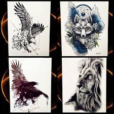 5245 руб 10 скидкалетающий орел временная татуировка черный эскиз