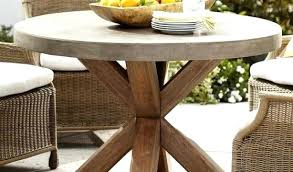 abbott round dining table pottery barn inside concrete outdoor concrete round dining table outdoor outdoor concrete