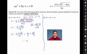 common core algebra i unit 9 lesson 6 the quadratic formula by emathinstruction you