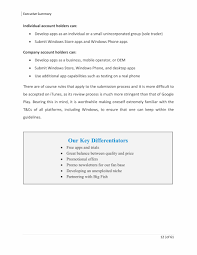 Business Plan Template For App Sample Pdf Example Proposal